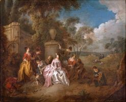 Gathering in a Park | Jean Baptiste Pater | Oil Painting