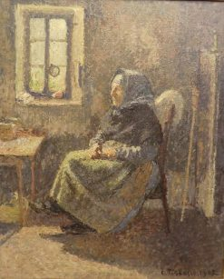 Paysanne assise. Intérieur a Moret | Camille Pissarro | Oil Painting