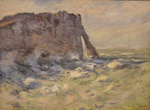 Falaise et Porte d'Aval par gros temps | Claude Monet | Oil Painting