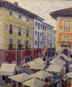 Market of Villafranca de Oria | Dario de Regoyos Y ValdEs | Oil Painting
