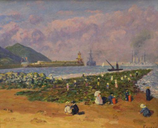 Breakwater | Dario de Regoyos Y ValdEs | Oil Painting