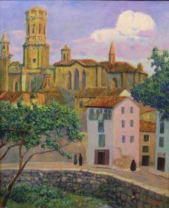The Cathedral of Tudela | Dario de Regoyos Y ValdEs | Oil Painting