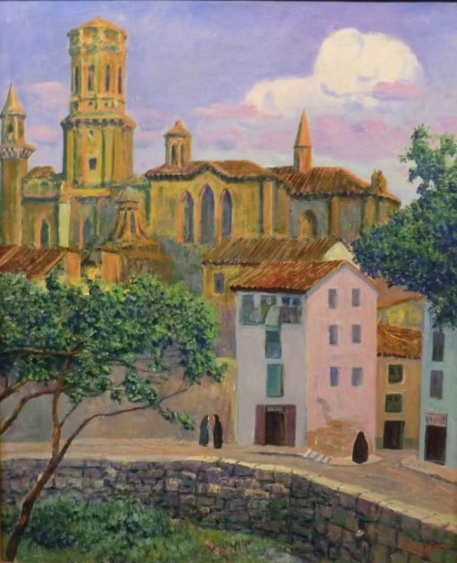 The Cathedral of Tudela | Dario de Regoyos Y ValdEs | Oil Painting