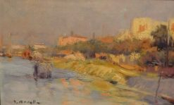 La Grande Jatte | Isidro Nonell Monturiol | Oil Painting