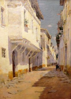 Street in a Seaside Town | Joan Roig Soler | Oil Painting