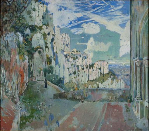 Path to the Holy Cave in Montserrat | Joaquin Mir Trinxet | Oil Painting