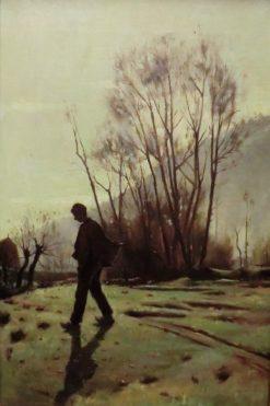 A Young Peasant | Joaquin Vayreda Vila | Oil Painting
