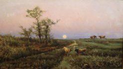 Full Moon | Joaquin Vayreda Vila | Oil Painting