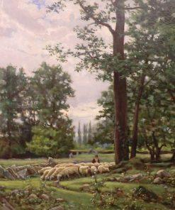 Grazing Flock | Joaquin Vayreda Vila | Oil Painting