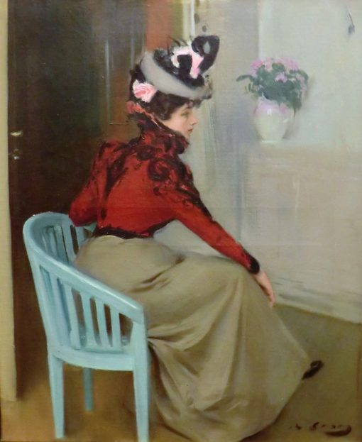 The Pensive | Ramon Casas y Carbo | Oil Painting