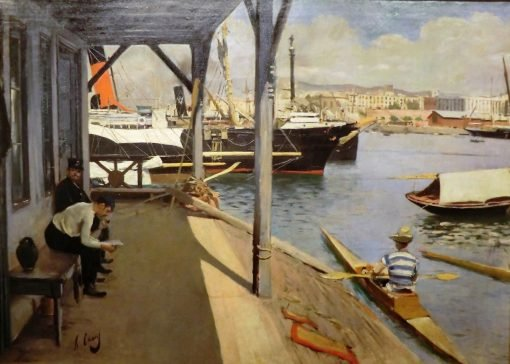 Barcelona Rowing Club | Ramon Casas y Carbo | Oil Painting