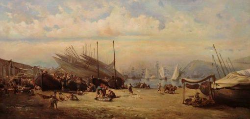 La Barceloneta | Ramon Marti Alsina | Oil Painting