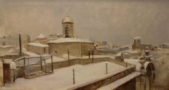 Rooftops with Snow | Ramon Marti Alsina | Oil Painting