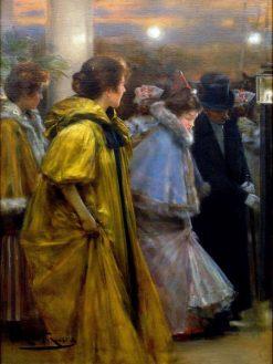 Sortida del Liceu | Roman Ribera Cirera | Oil Painting