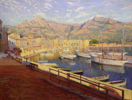 El puerto de Soller | Santiago Rusiñol Prats | Oil Painting