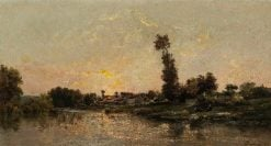The Banks of the Oise | Charles Francois Daubigny | Oil Painting