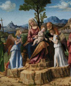 Sacra Conversazione(also known as Rest on the Flight to Egypt) | Cima da Conegliano | Oil Painting