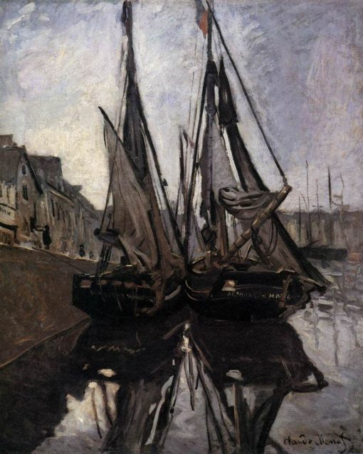 Fishing Boats in Honfleur | Claude Monet | Oil Painting