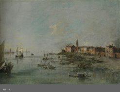 The Giudecca Canal with the Church of Saint Martha | Francesco Guardi | Oil Painting
