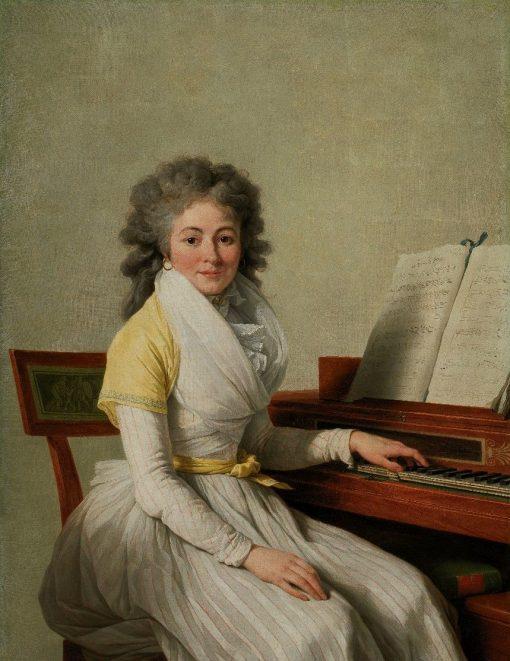 Portrait of Mademoiselle Duplant | Francois AndrE Vincent | Oil Painting
