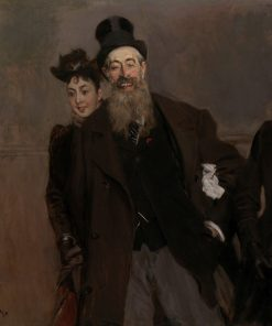 John Lewis Brown with Wife and Daughter | Giovanni Boldini | Oil Painting