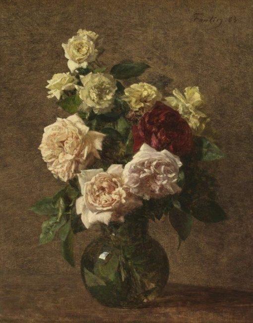 Jug with Roses | Henri Fantin Latour | Oil Painting