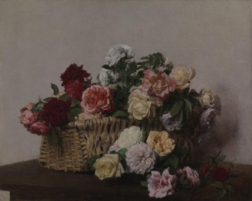 A Basket of Roses | Henri Fantin Latour | Oil Painting