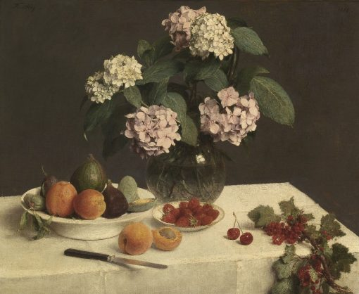 La Table Garnie | Henri Fantin Latour | Oil Painting