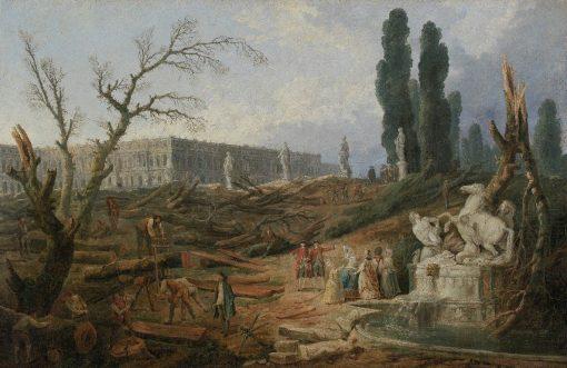 Le Bosquet des Bains d'Apollon | Hubert Robert | Oil Painting