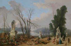 Le Tapis Vert | Hubert Robert | Oil Painting