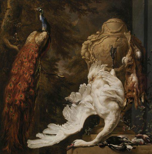 Peacock and Hunting Trophies | Jan Weenix | Oil Painting