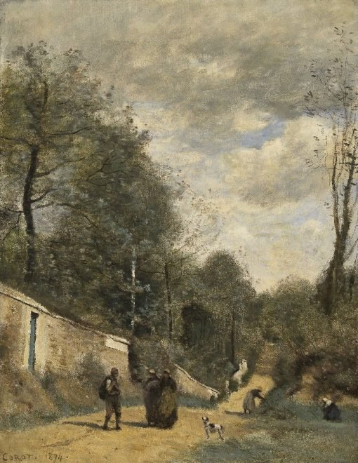 A Road at Ville d'Avray | Jean Baptiste Camille Corot | Oil Painting