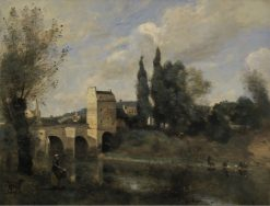 The Bridge at Mantes | Jean Baptiste Camille Corot | Oil Painting