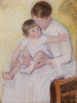 The Stocking | Mary Cassatt | Oil Painting