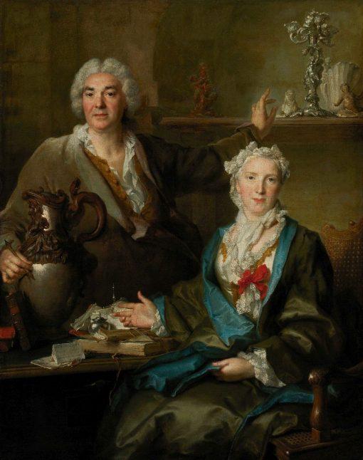Portrait of Thomas Germain and His Wife | Nicolas de Largilliere | Oil Painting