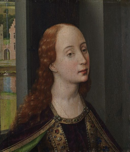 Bust of Saint Catherine ? | Rogier van der Weyden | Oil Painting