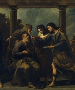 Tobias Curing the Sight of Saint Paul | Andrea Vaccaro | Oil Painting