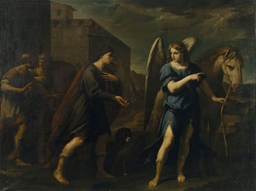 Tobias and the Archangel Raphael | Andrea Vaccaro | Oil Painting