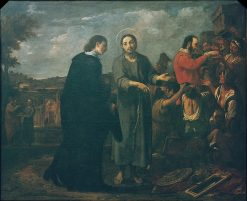Bernat de Quintaval Distributes his Riches to the Poor | Antoni Viladomat y Manalt | Oil Painting