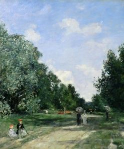 Parc Cordier in Trouville | Eugene Louis Boudin | Oil Painting