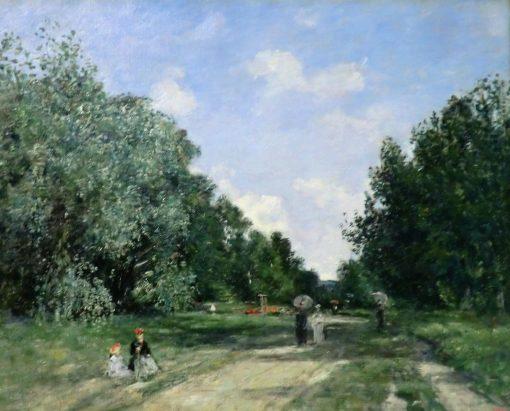 Parc Cordier in Trouville | Eugene Louis Boudin | Oil Painting