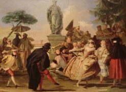 El minuet | Giandomenico Tiepolo | Oil Painting