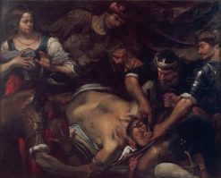The Philistines Gouging out Samson's Eyes | Gioacchino Assereto | Oil Painting
