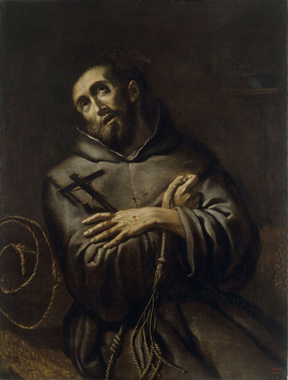 Saint Francis Of Assisi Painting Italian School Th Century Unknown