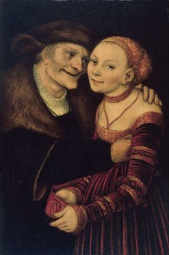 The Ill-Matched Couple | Lucas Cranach the Elder | Oil Painting