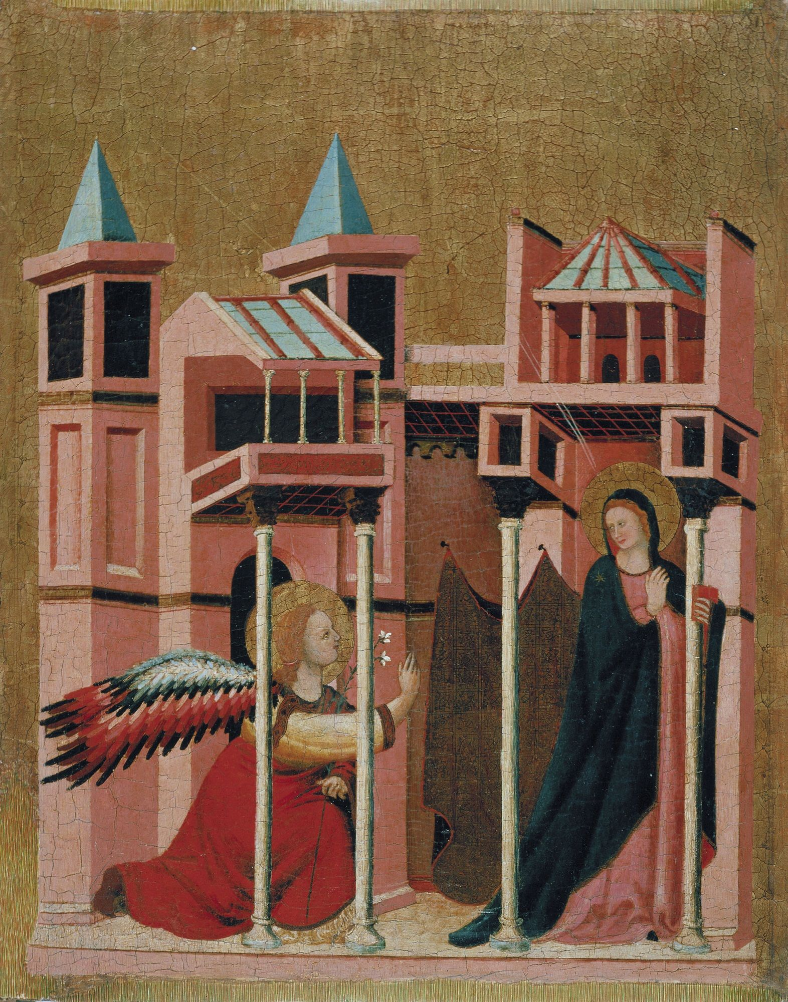 The Annunciation   Master of the Cini Madonna   Oil Painting