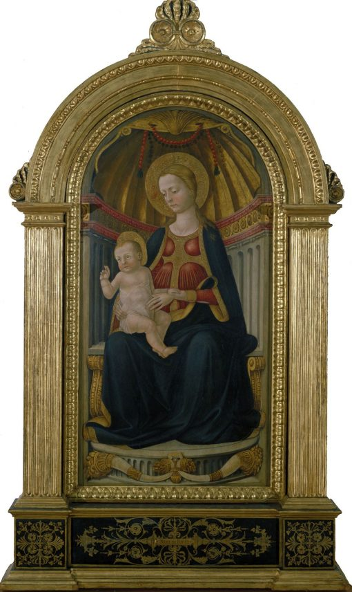 Virgin and Child on the Throne   Neri di Bicci   Oil Painting