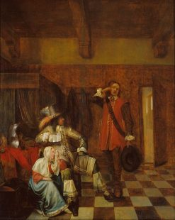 Bringer of Bad News | Pieter de Hooch | Oil Painting