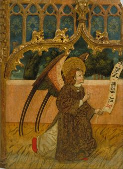 Archangel Gabriel from an Annunciation  | Spanish School   th Century Unknown | Oil Painting