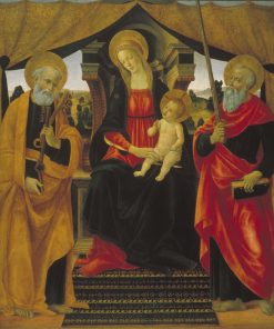 Virgin and Child between Saint Peter and Saint Paul | Vincenzo Frediani | Oil Painting
